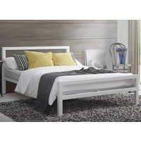 Time Living City Block White Bed Frame - Small Double