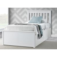 Bedmaster Francis White Ottoman Bed - Single
