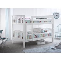 Bedmaster Oslo White Quadruple Bunk Bed - Small Double