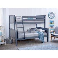 Bedmaster Ashley Grey Triple Sleeper Bed - Small Double