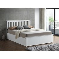 Bedmaster Malmo White Wooden Ottoman Bed - King Size