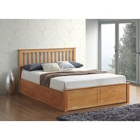 Bedmaster Malmo Oak Ottoman Bed - Double