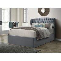 Bedmaster Warwick Grey Velvet Ottoman Bed - Double