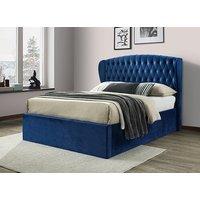Bedmaster Warwick Blue Velvet Ottoman Bed - King Size