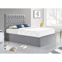 Bedmaster Wilson Grey Fabric Ottoman Bed - Double