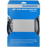 Shimano Road Brake Cable Set With Stainless Steel Inner - One Size - Black
