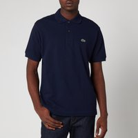 Lacoste Men's Classic Fit Pique Polo Shirt - Navy Blue - 3/S