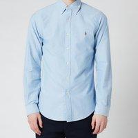 Polo Ralph Lauren Mens Slim Fit Oxford Long Sleeve Shirt - BSR Blue - M