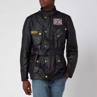 Barbour International Mens Union Jack International Jacket - Black - XXL - Black