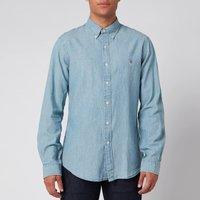 Polo Ralph Lauren Men's Slim Fit Chambray Shirt - Medium Wash - S