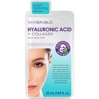 Mascarilla facial ácido hialurónico + colágeno de Skin Republic 25 ml