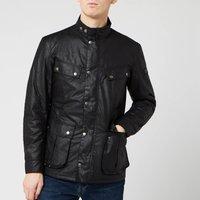 Barbour International Mens Duke Wax Jacket - Black - S