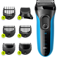 Braun Series 3 ProSkin 3010BT Electric Shaver, Blue