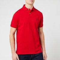Polo Ralph Lauren Mens Custom Slim Fit Mesh Polo Shirt - Red - XL - Red