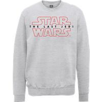 Star Wars The Last Jedi Men's Grey Sweatshirt - M - Grey