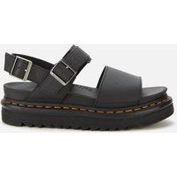 Dr. Martens Women's Voss Leather Double Strap Sandals - Black - UK 8