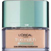 Base de maquillaje mineral True Match de L'Oréal Paris 10 g (Varios tonos) - 1W Golden Ivory