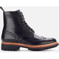 Grenson Men's Fred Leather Commando Sole Lace Up Boots - Black - UK 9 - Black