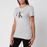 Calvin Klein Jeans Women's Core Monogram Logo Regular Fit T-Shirt - Light Grey Heather - S - Grey