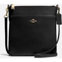 Coach Womens Crossgrain Messenger Cross Body Bag - Black