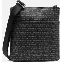 Armani Exchange Men's All Over Logo Crossbody Bag - Black