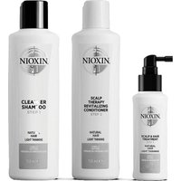 Tratamiento de 3 pasos para pérdida leve de cabello no teñido System Trial Kit 1 for Natural Hair with Light Thinning de NIOXIN