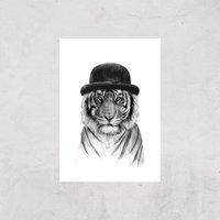 Balazs Solti Tiger In A Hat Art Print - A4 - Print Only