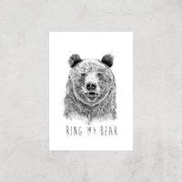 Balazs Solti Ring My Bear Art Print - A3 - Print Only