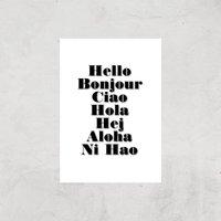 PlanetA444 Hello Art Print - A3 - Print Only