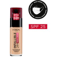 L'Oreal Paris Infallible 24hr Freshwear Liquid Foundation (Various Shades) - 125 Natural Rose