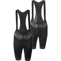 Ale Women's Solid Traguardo Bib Shorts - XS - Black/White