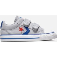 Converse Toddlers' Star Player Ox Velcro Trainers - Wolf Grey - UK 5 Toddler