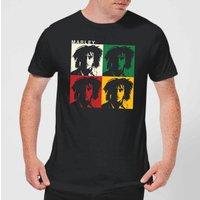 Bob Marley Faces Men's T-Shirt - Black - M - Black