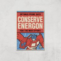 Transformers Conserve Energon Poster Art Print - A3 - Print Only - Poster Gifts