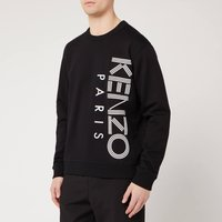 KENZO Men's Vertical Logo Sport Sweatshirt - Black - L