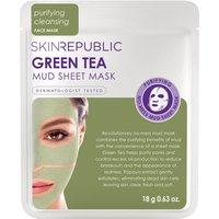 Skin Republic Green Tea Mud Face Sheet Mask 18g