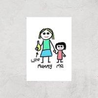 Mummy & Me Art Print - A4 - Print Only