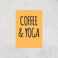 Coffee And Yoga Art Print - A3 - Print Only - Coffee Gifts