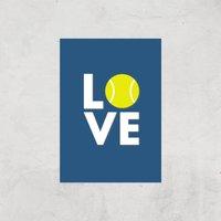 Love Tennis Art Print - A4 - Print Only