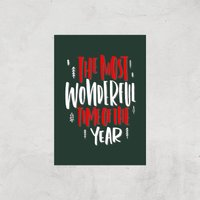 The Most Wonderful Time Art Print - A4 - Print Only