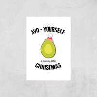 Avo-Yourself A Merry Little Christmas Art Print - A3 - Print Only