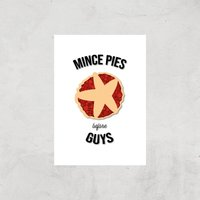 Mince Pies Before Guys Art Print - A3 - Print Only