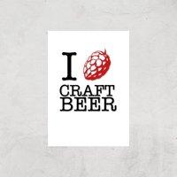 I Hop Craft Beer Art Print - A4 - Print Only