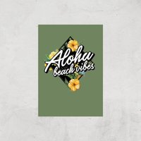 Aloha Beach Vibes Art Print - A4 - Print Only - Beach Gifts