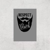 Respect The Beard Art Print - A4 - Print Only
