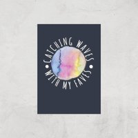 Catching Waves With My Faves Art Print - A3 - Print Only