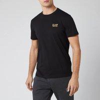 Emporio Armani EA7 Men's Small Logo T-Shirt - Black/Gold - XL