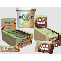 Myvegan Snacking Bundle - Vegan Carb Crusher - Chocolate Orange - Organic Nut Butter - Crunchy - Veg