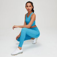 MP Women's Textured Training Leggings - Malibu - XS