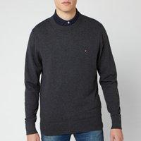 Tommy Hilfiger Men's Pima Cotton Cashmere Sweater - Charcoal Heather - M